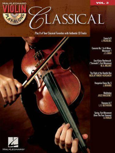 Classical Violin Play Along Vol 3 Book and CD
