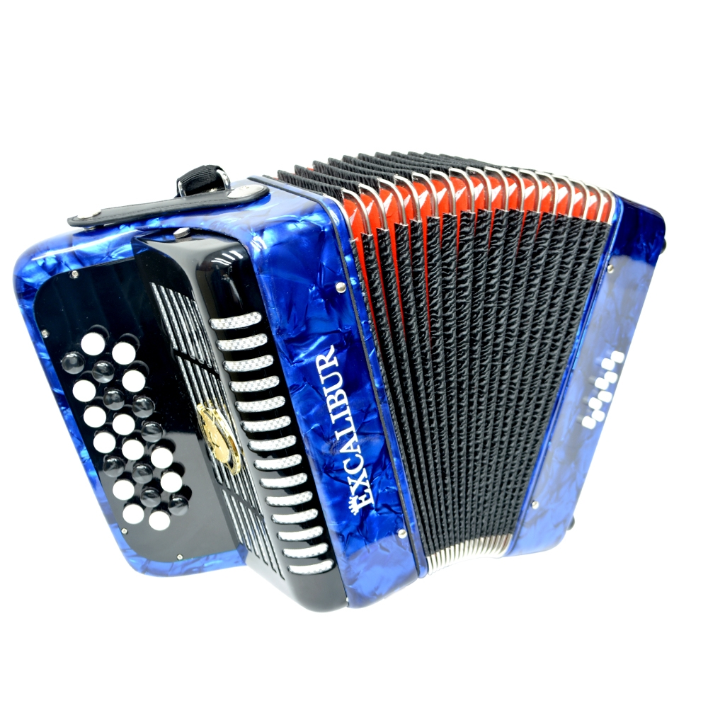 Excalibur Weltbestin 22 Key Chromatic Accordion Light Blue
