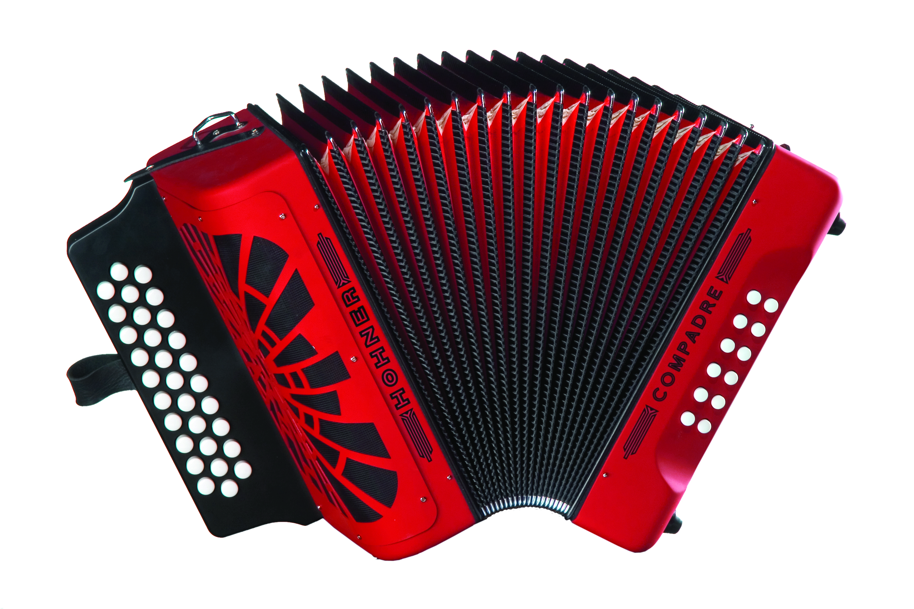 Hohner Compadre BbEbAb, Red with Gig Bag