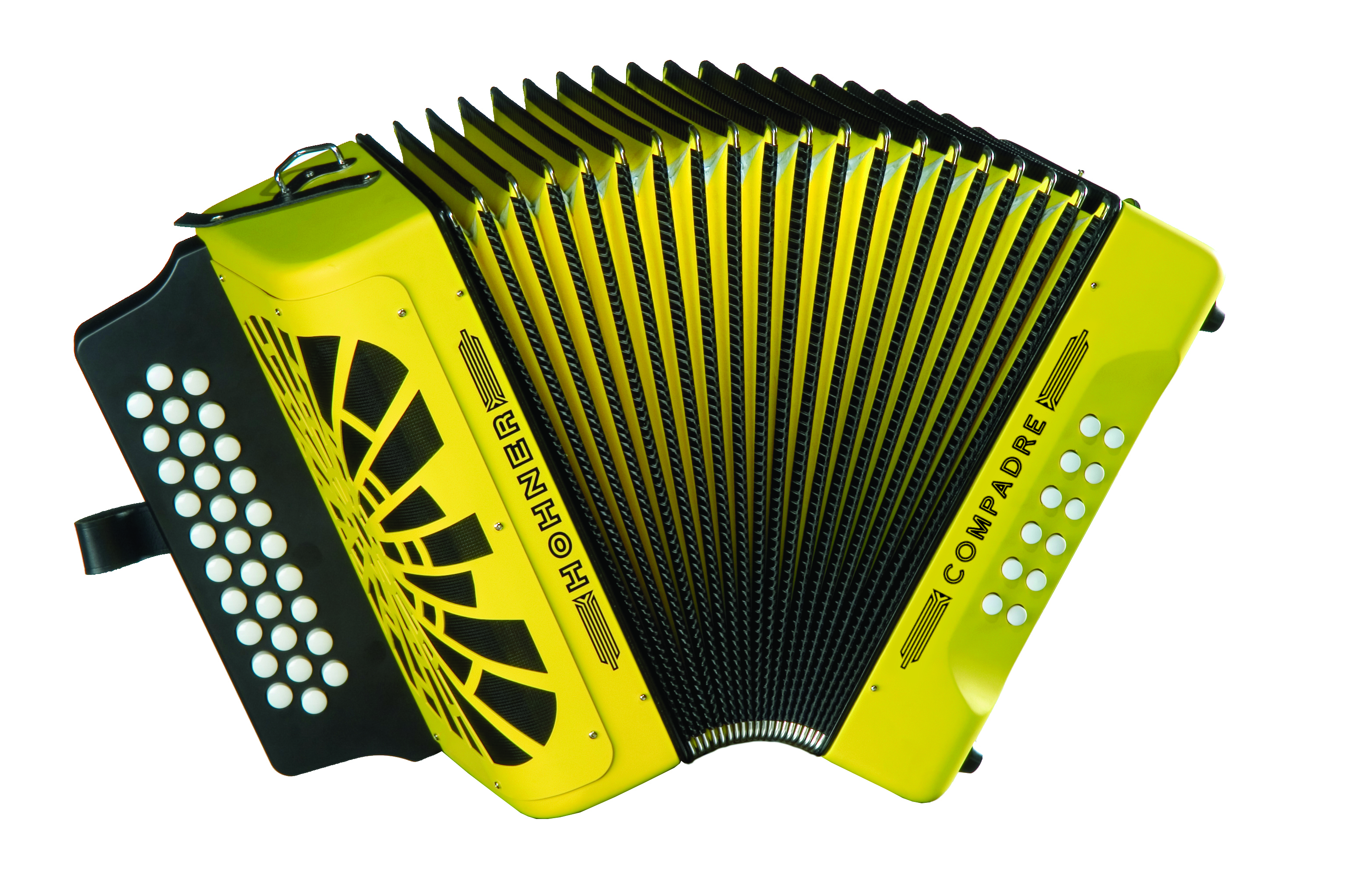 Hohner Compadre BbEbAb, Yellow with Gig Bag