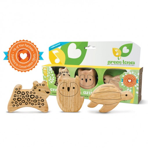 Hohner (green tones) 3788 Endangered Animal Shakers