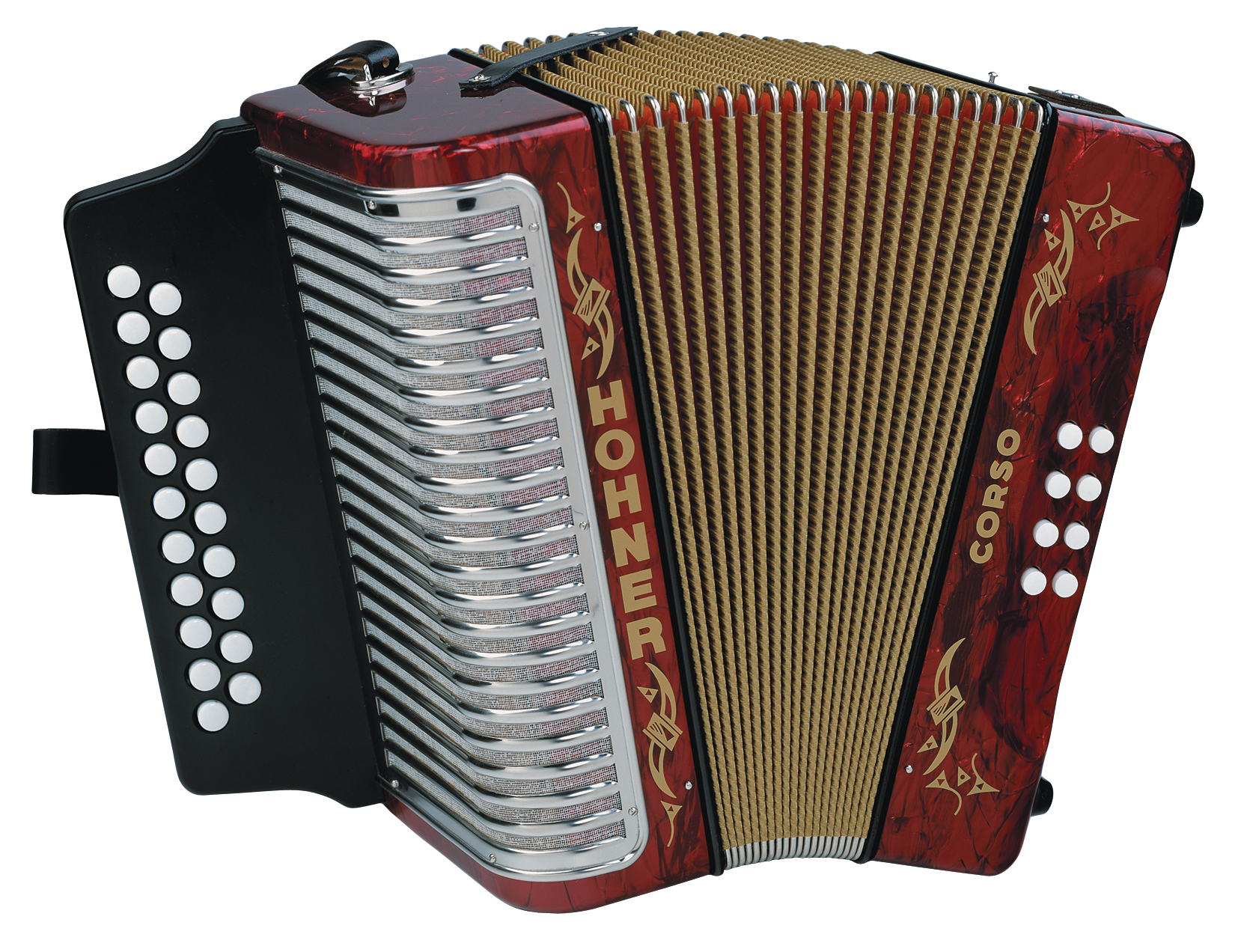 Hohner Corso 3 Row HT, GC, Red