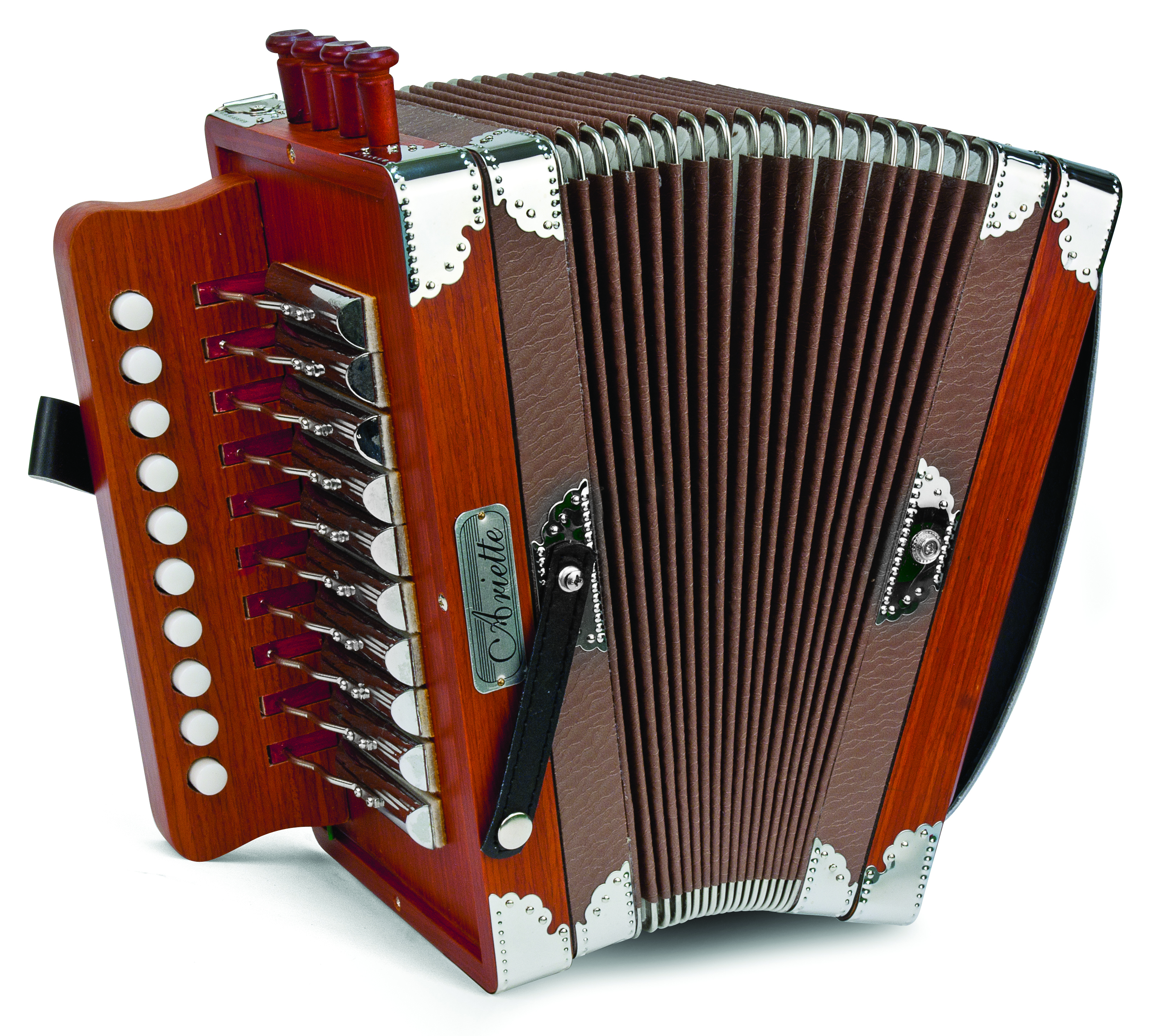 Hohner Ariette One-Row Diatonic Accordion Key of C Natural Color