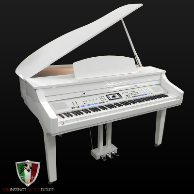 Medeli 1000 Digital Grand Piano - White Polish