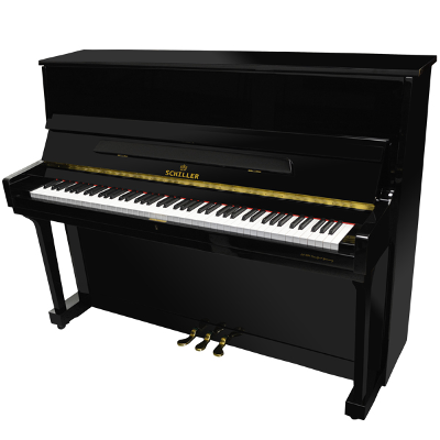 Schiller Performance Hamburg Upright - Ebony Polish