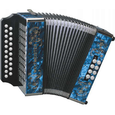 Weltmeister Wiener 405 Diatonic ( Button ) Accordion Blue
