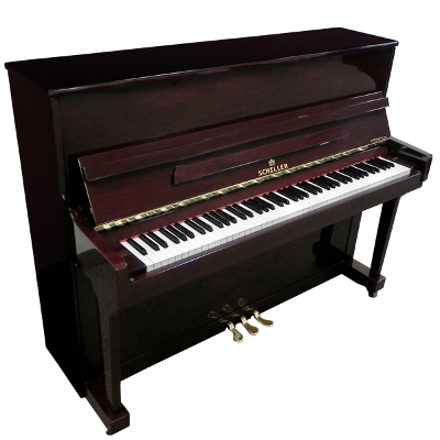 Schiller Performance Frankfurt Upright Piano - Mahogany Polish
