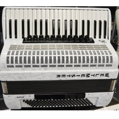 Weltmeister Saphire Piano Accordion 120 Bass White