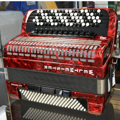 Weltmeister Romance 874 Chromatic Accordion Red Marble