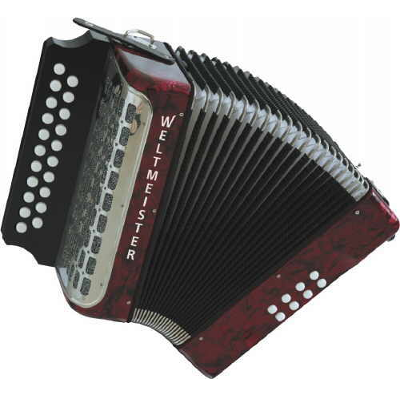 Weltmeister Wiener 406 Diatonic ( Button ) Accordion Red