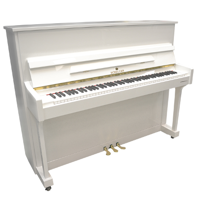 Schiller Performance Hamburg Upright - White Polish