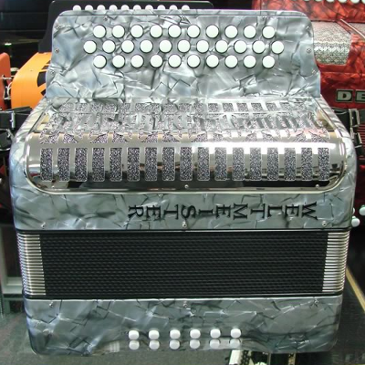 Weltmeister 3 Row Button Accordion Model 509 Grey Marble