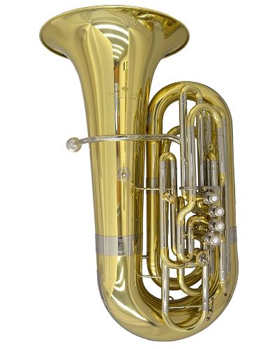 Schiller American Heritage CC 5 Valve Piston Compensating Tuba - Brass