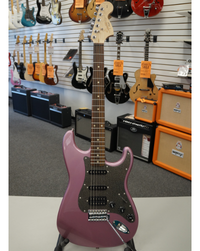 Fender® Squier® Affinity Series™ Stratocaster® HSS Electric Guitar Burghandy Mist