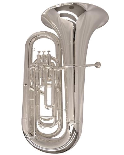 Schiller Elite Compensating Tuba BBb - Silver Plated
