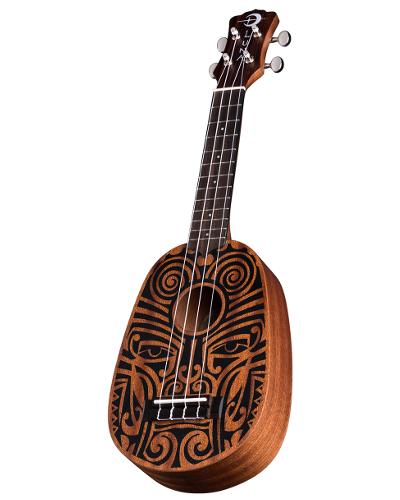 Luna Uke Tribal Pineapple Mahogany - UKE TRIBAL PINEAPPLE