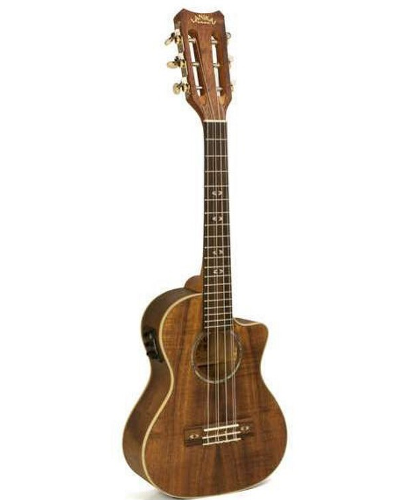 Lanikai CK-6EK Curly Koa 6 String Tenor Acoustic Electric Ukulele