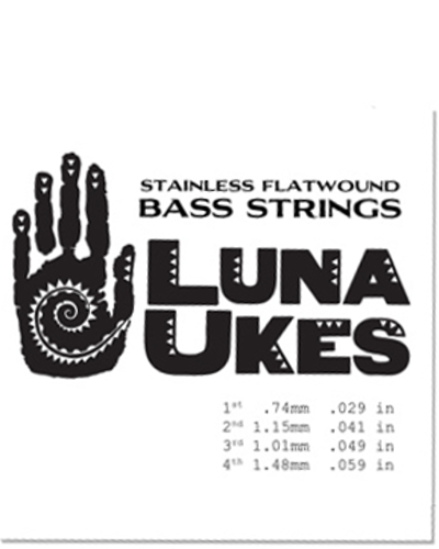 Luna Uke Baritone Strings Flatwound
