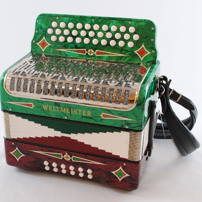 Weltmeister 3 Row Button Accordion Tex Mex ( Key of GCF )