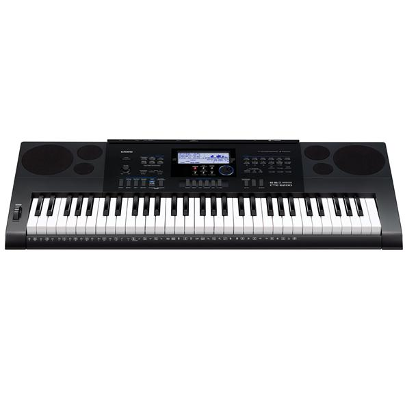 Casio - CTK-6200 61-Key Portable Digital Piano - Black