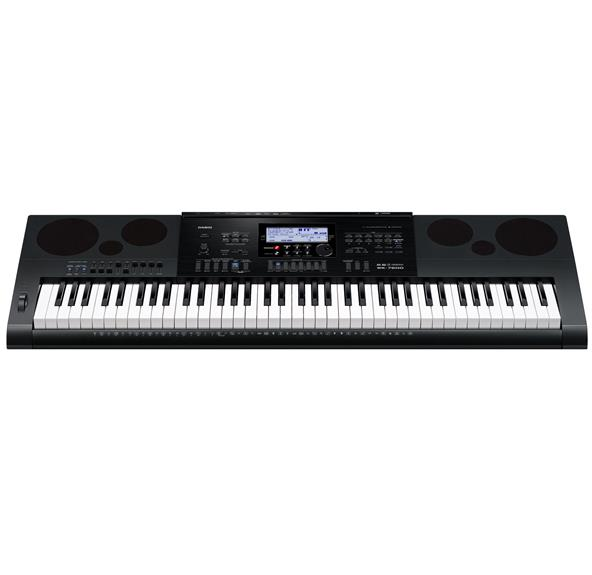 Casio - WK-7600 76-Key Digital Piano - Black