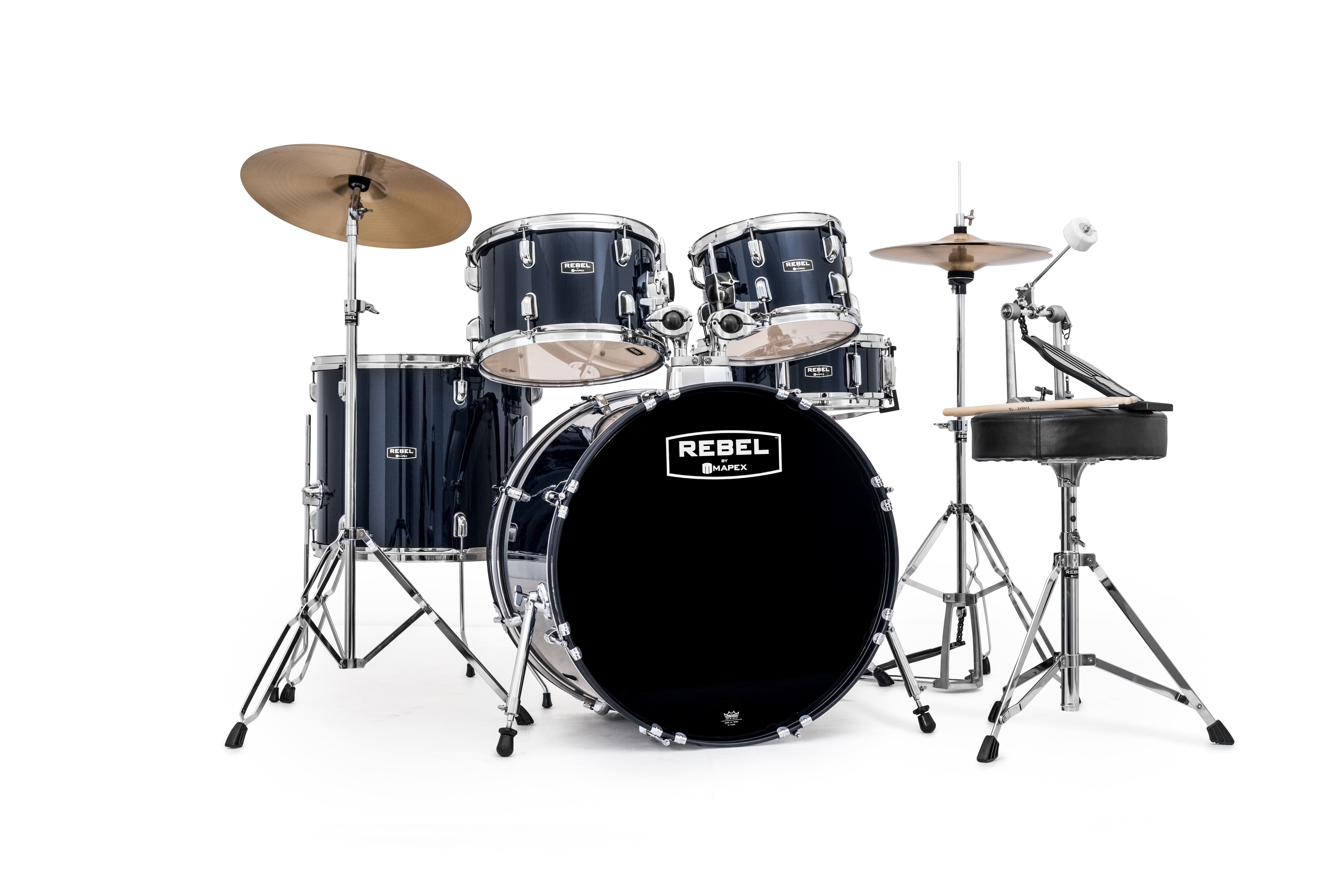 Mapex Rebel 5-piece SRO Complete Set Up with Fast Size Toms - RB5294FTCYB - Royal Blue