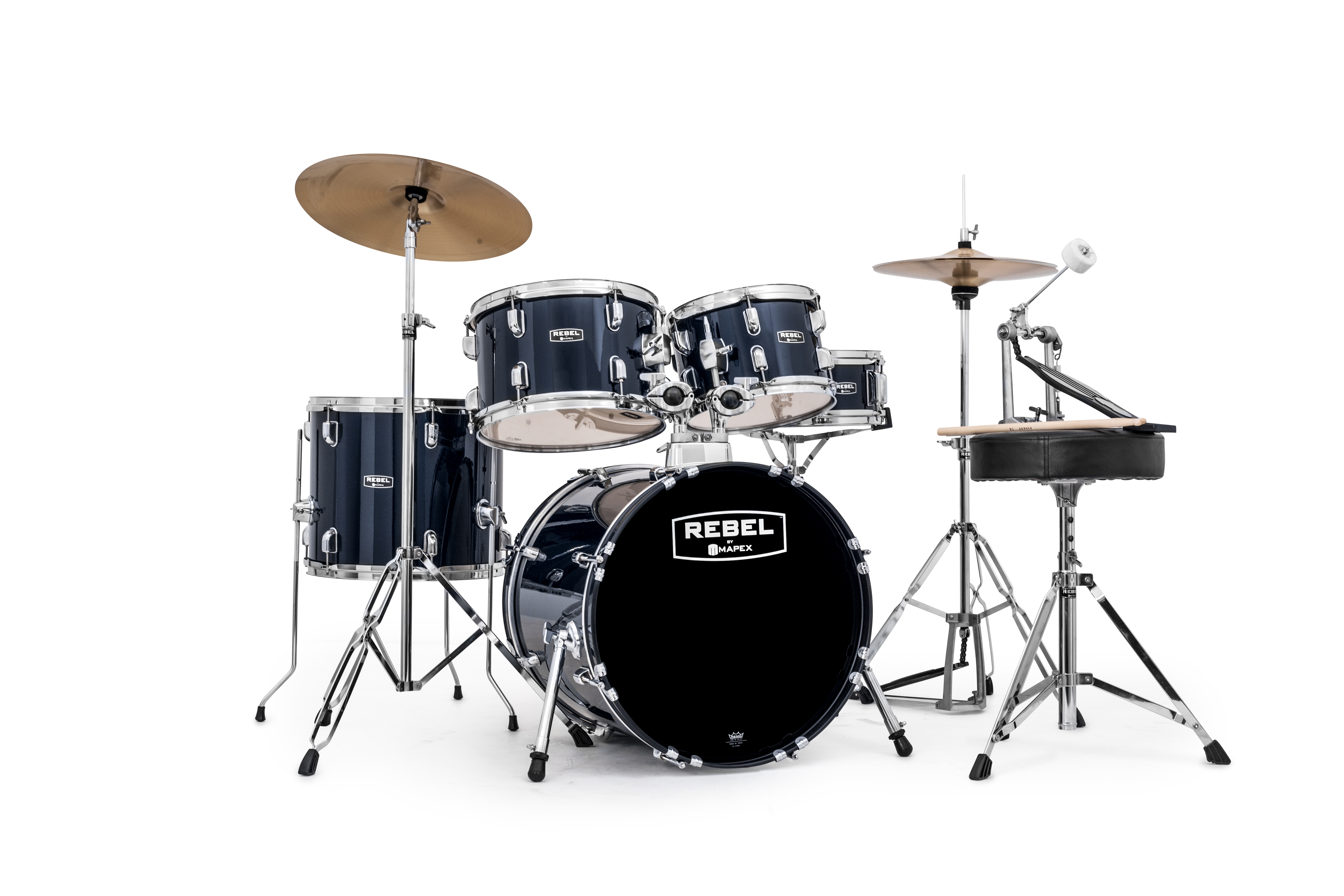 Mapex Rebel 5-piece Complete Junior Set Up with Fast Size Toms - RB5844FTCYB - Royal Blue