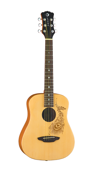 Luna Safari Henna Travel Guitar w/ Gigbag - SAF HEN