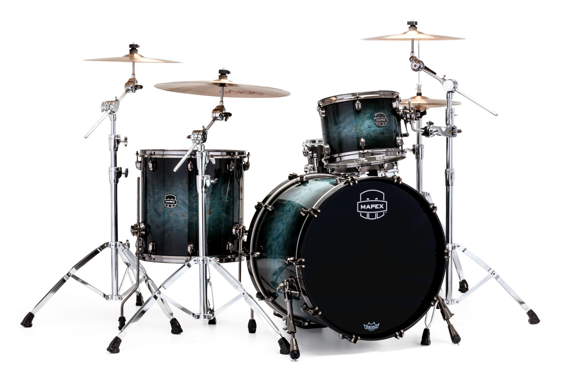 Mapex Saturn V MH Exotic Rock 3-piece shell pack with SONIClear Edge - SV426XBMSL - Natural Ash Burl