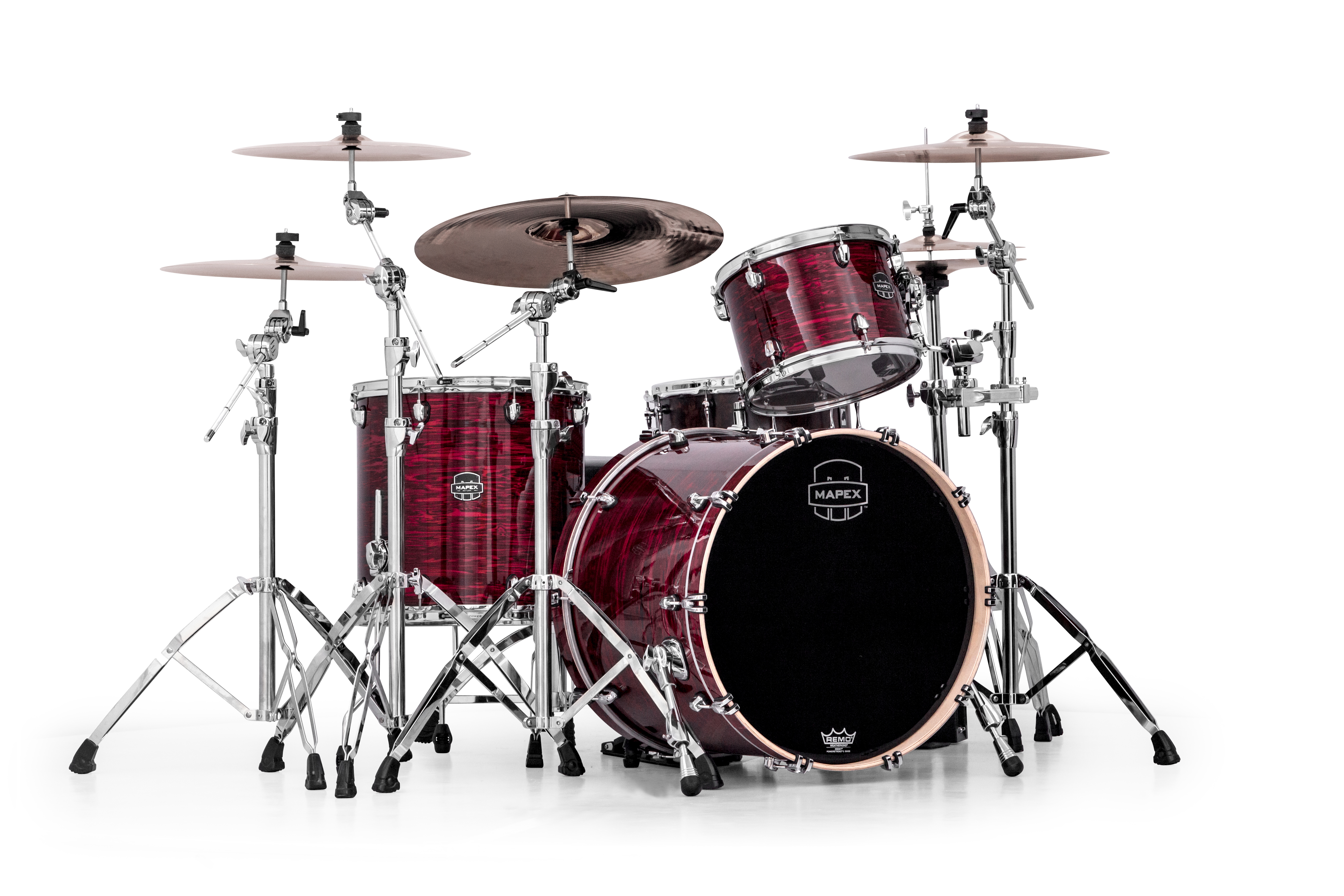 Mapex Saturn V MH Rock 3-piece shell pack with SONIClear Edge - SV426XCL - Merlot Burst
