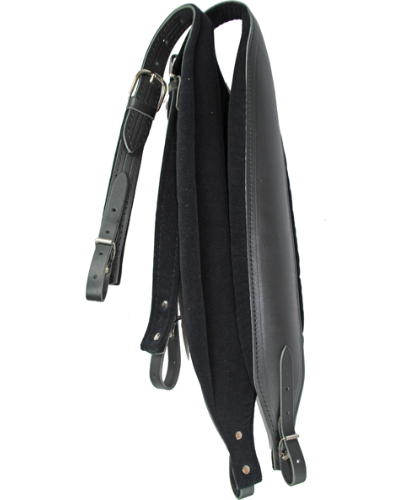 Excalibur Elephant Black Leather with Velvet Padding