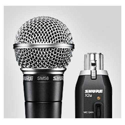 Shure SM58-X2u USB Digital Bundle Vocal Microphone