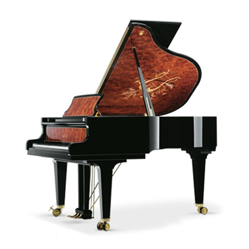 Schimmel Meisterstucke Traditional Intarsie Harfe Grand Piano - Ebony High Gloss