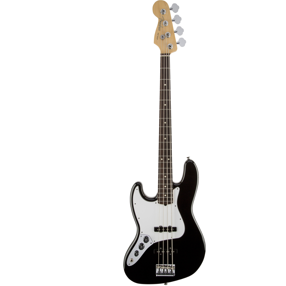Fender American Standard Jazz Bass® Left-Hand Black Rosewood Fingerboard Electric Bass Guitar
