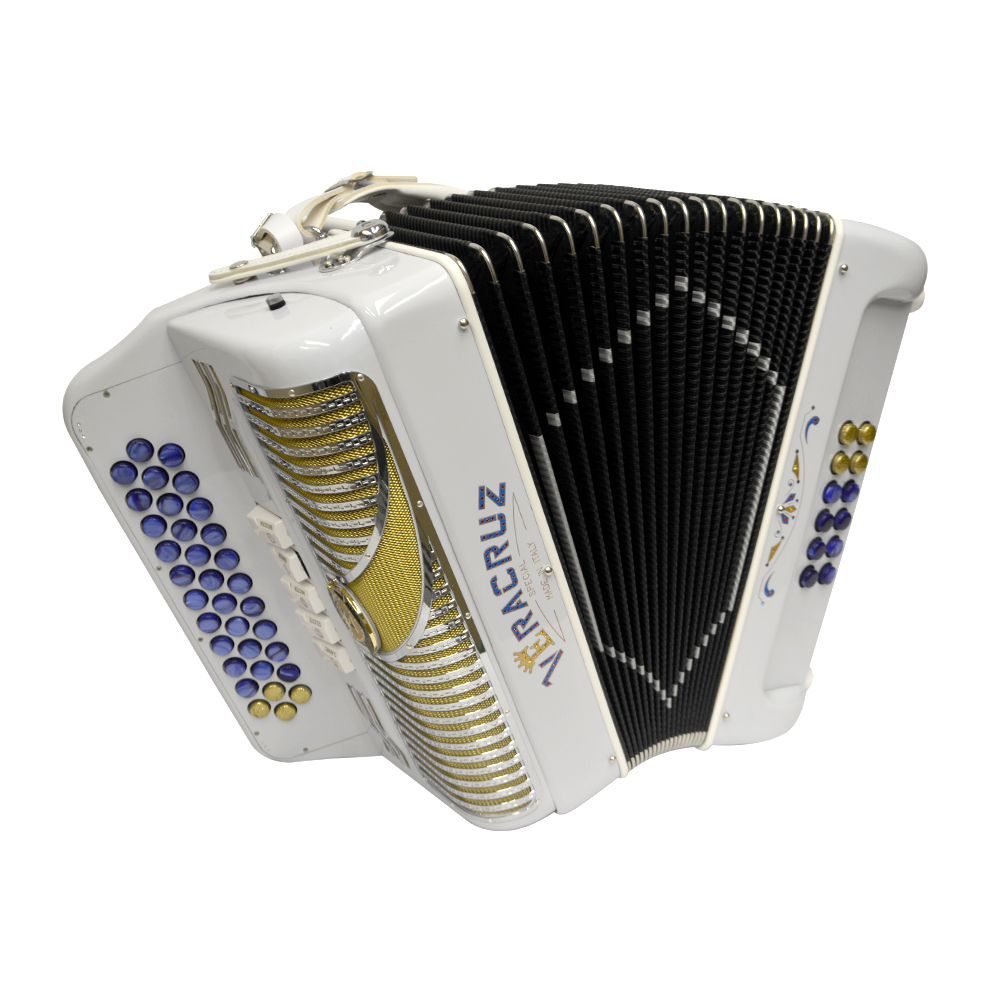 Excalibur Veracruz 5 Switch Button Accordion - White