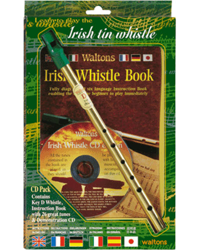 Waltons Irish Tin Whistle ( Key of D ) Book and CD Pack