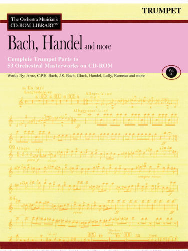 Bach, Handel and More – Volume 10 - CD Sheet Music Series – CD-ROM