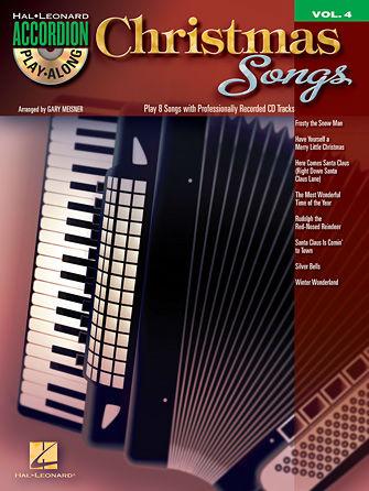 Christmas Songs Accordion Book and CD