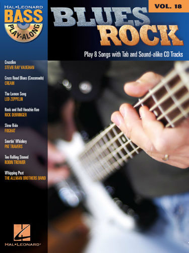 Blues Rock - Bass Play-Along Volume 18 Book and CD