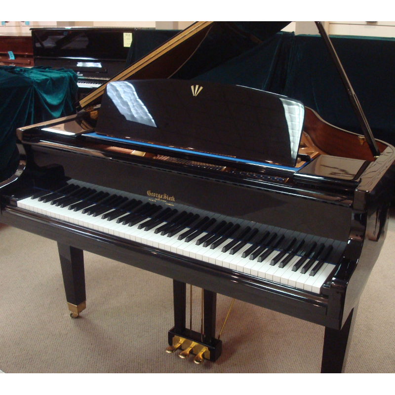 George Steck Baby Grand Piano - Black Polish