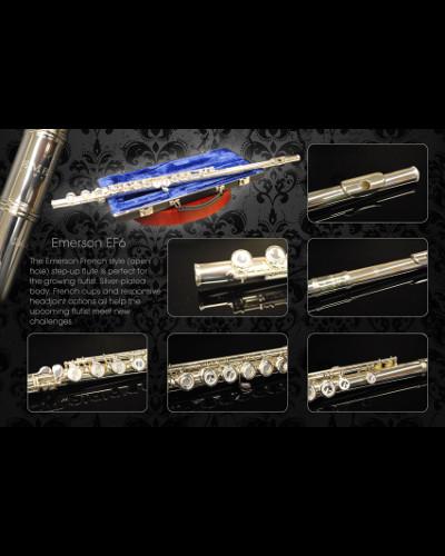Emerson EF6 Flute Open Hole Sterling Silver Headjoint