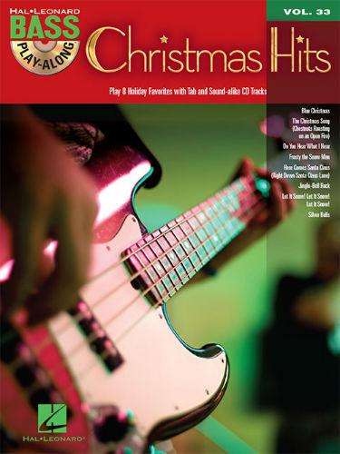 Christmas Hits - Bass Play-Along Volume 33 Book and CD