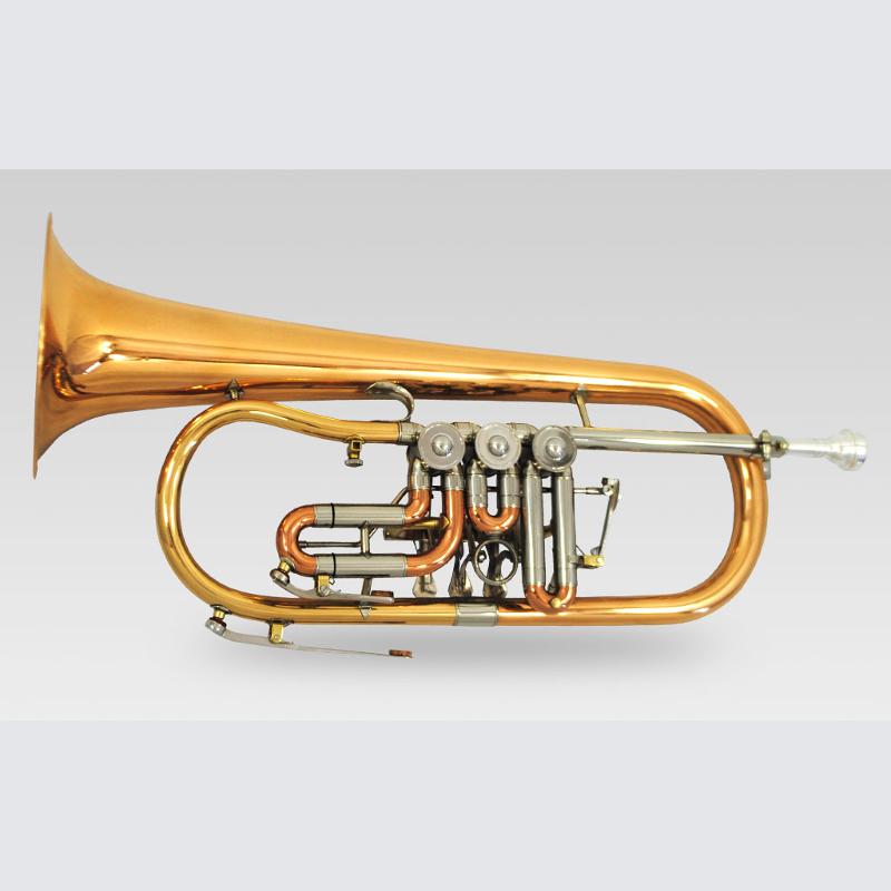 Schiller Elite Rotary Flugelhorn w/ Rose Brass Bell