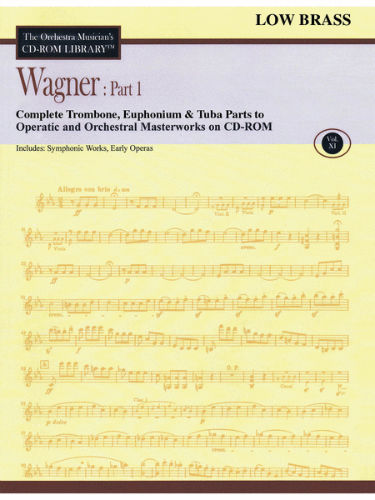 Wagner: Part 1 – Volume 11 - CD Sheet Music Series - CD-ROM