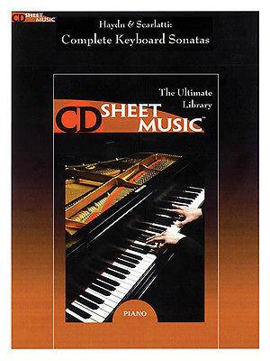 Haydn & Scarlatti: The Complete Keyboard Sonatas - CD Sheet Music Series - CD-ROM