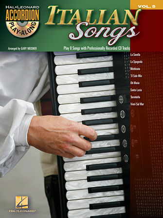 Italian Songs Accordion Book and CD