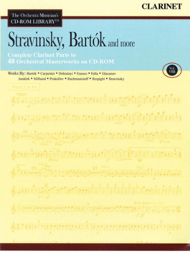 Stravinsky, Bartók and More – Vol. 8 - CD Sheet Music Series - CD-ROM