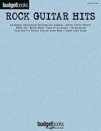 Rock Guitar Hits - Budget Books Series