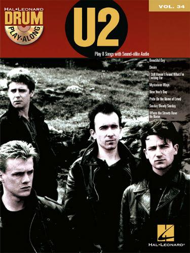 U2 - Drum Play-Along Series Volume 34