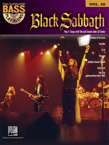 Black Sabbath - Bass Play-Along Volume 26 Book and CD